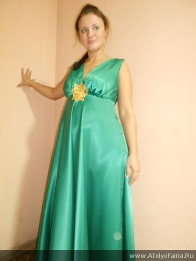пошив зеленого платья